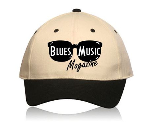 BLUES MUSIC MAGAZINE EMBROIDERED LOGO CAP