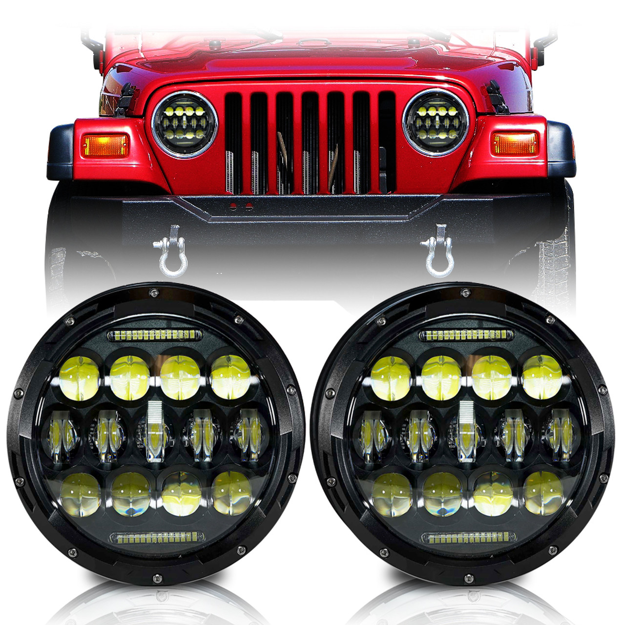 LED Headlamp For Jeep Wrangler