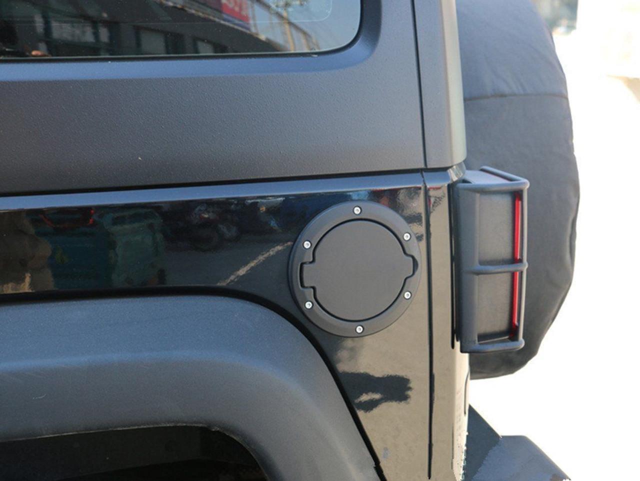 OEM Black Aluminum Fuel Door Cap For Jeep Wrangler 2007 2017