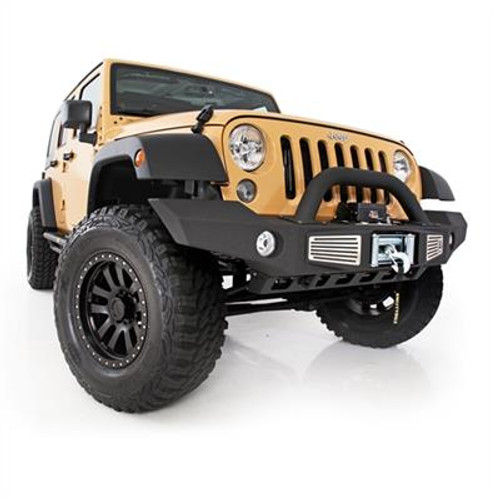 XRC Atlas Front Bumper With Grill Guard And Fog Light Holes Black For Wrangler  JK 2007