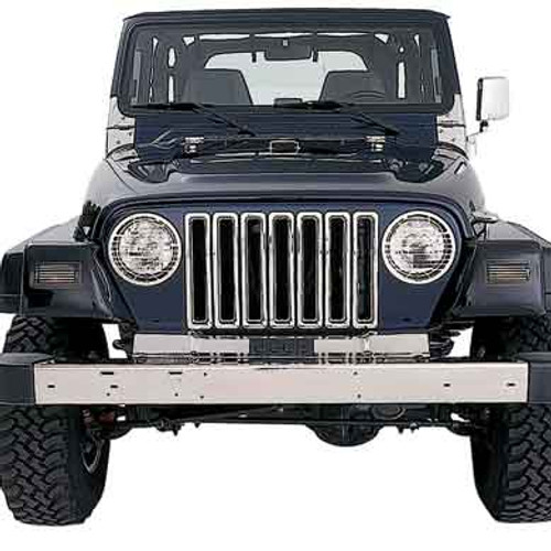 Chrome Grille Inserts for Wrangler TJ & LJ 1987-2006