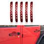 5pcs Aluminum Door Insert Trim Handle Tailgate 2007-2018 Jeep Wrangler JK 4 Door
