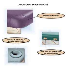 Custom Craftworks Omni Portable Massage Table-options