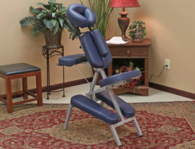 Custom Craftworks Portable Melody portable massage chair-in use