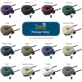 EarthLite Deluxe Adjustable Head Rest with Face Pillow - colors