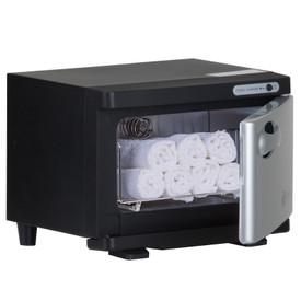 Earthlite Mini UV Hot Towel Cabinet - black open