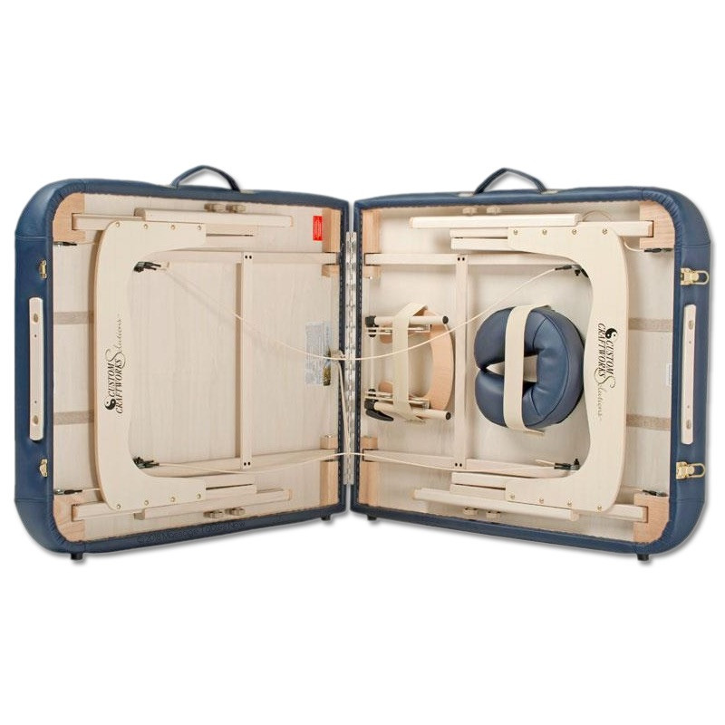 Custom craftworks Luxor Portable massage table-open
