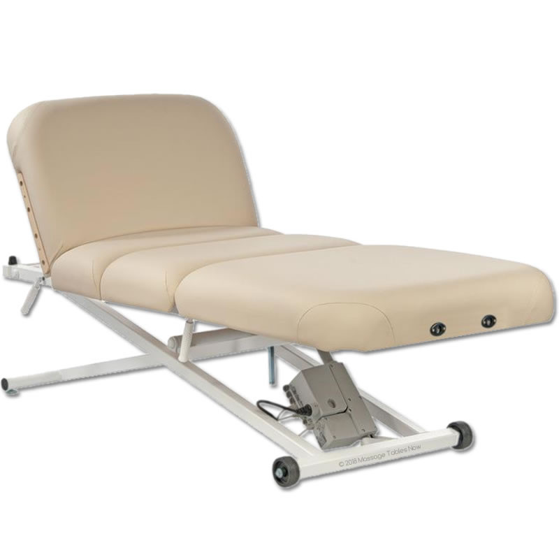 Custom Craftworks Classic Pro Deluxe Electric Lift Massage Table-back tilt