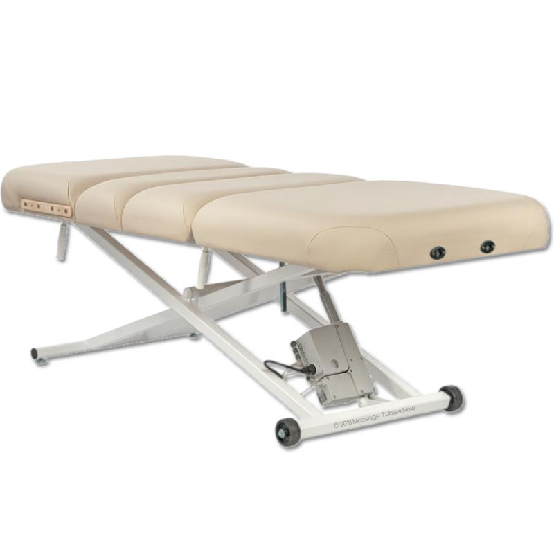 Custom Craftworks Classic Pro Deluxe Electric Lift Massage Table-flat