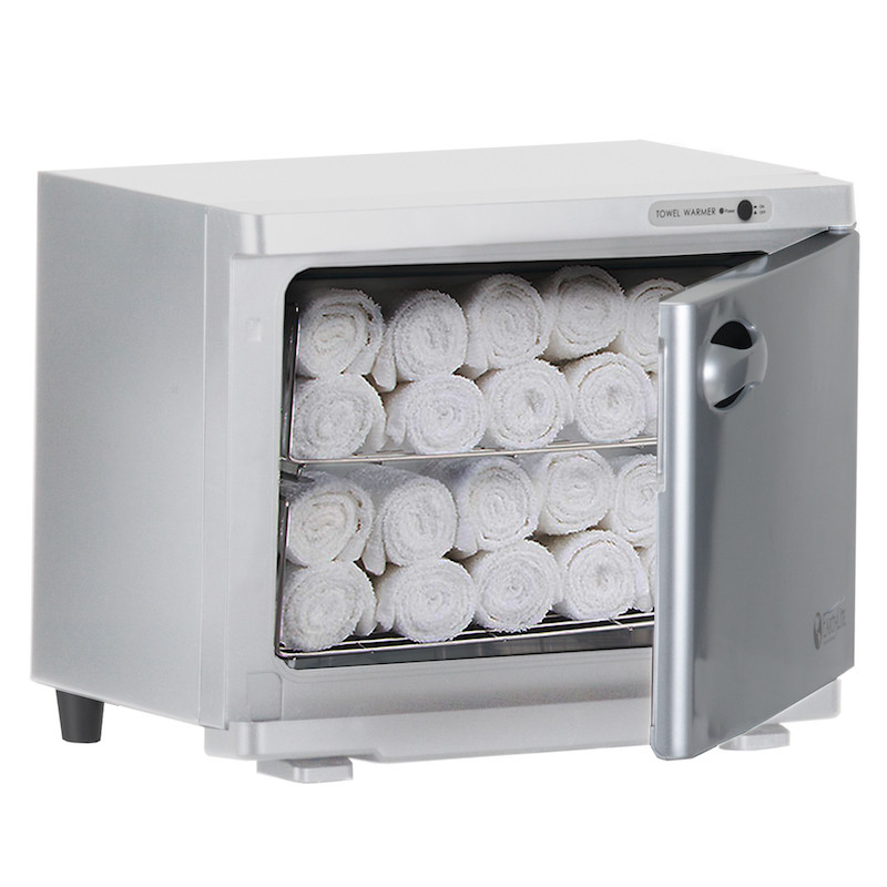 Earthlite Standard UV Hot Towel Cabinet - open