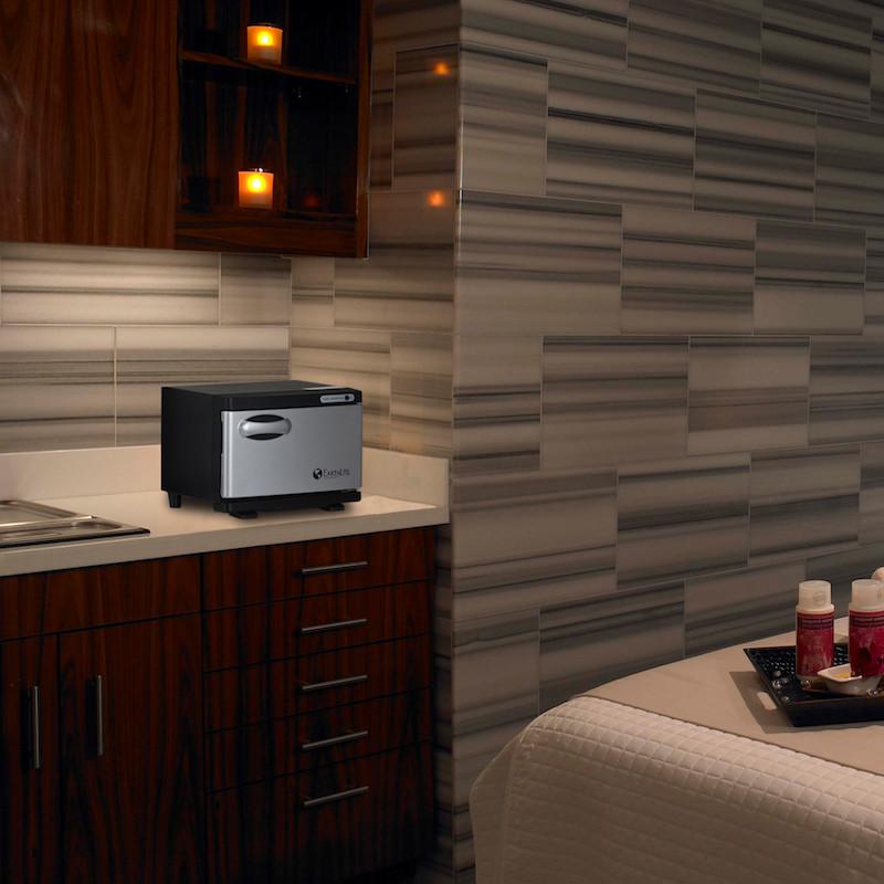 Earthlite Mini UV Hot Towel Cabinet - in room