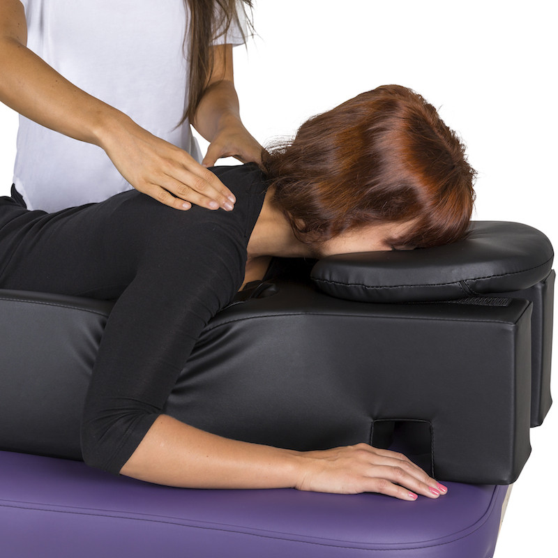 EarthLite Pregnancy Cushion and Headrest - in use