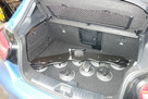 The SeaSucker Bomber 3 bike rack fits neatly inside the boot of a Mercedes A Class