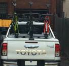 Toyota Hilux SR5 Class bike rack - The SeaSucker Bomber 3 bike rack