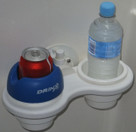 SeaSucker 2 Cup Holder Vertical Mount with optional DrinX cup insert. The custom boat drinks holder solution