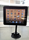 SeaSucker Black iPad Galaxy Mount in kitchen