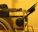 SeaSucker Black iPad Galaxy Mount attached to a wheelchair