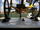 SeaSucker Trike Rack with trike secured to the roof of the car