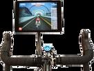 SeaSucker Trainer Flex Mount - iPad mounted on an exercise bike