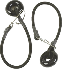 """Lee's Tackle RK3014TC - Tensions Cords 1/4"""" x 12"""" with Black Glass Ring"""