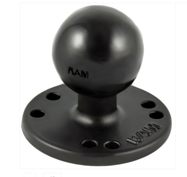 """RAM 2.5"""" Round Base (AMPs Hole Pattern), 1.5"""" Ball / Plate (RAM-202U)"""