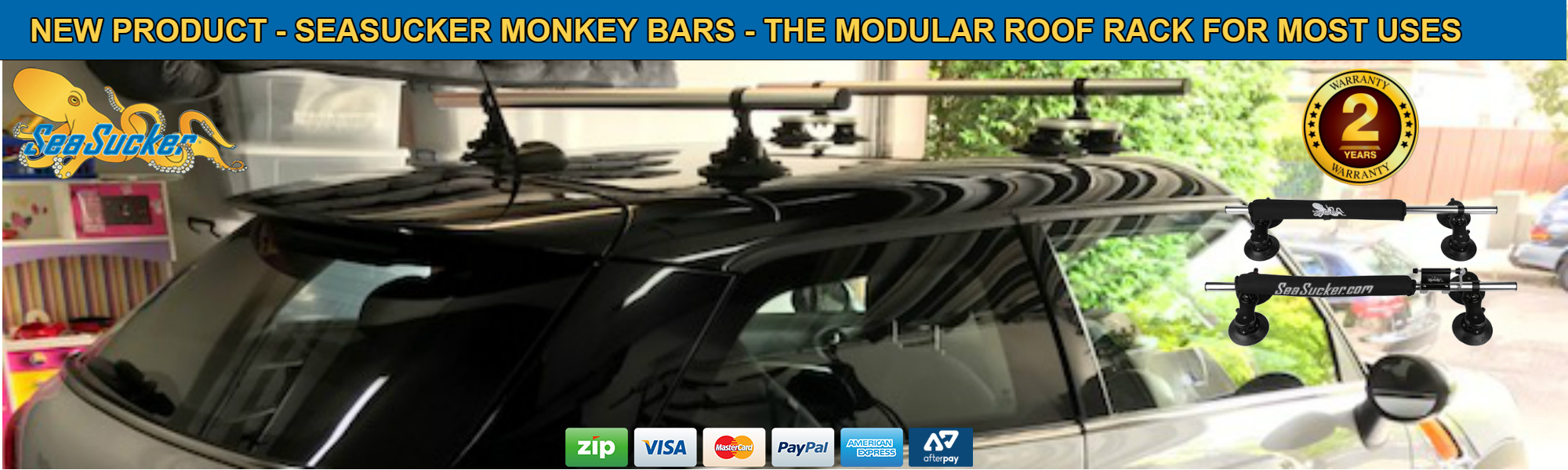 SeaSucker Monkey Bars Roof Rack Banner
