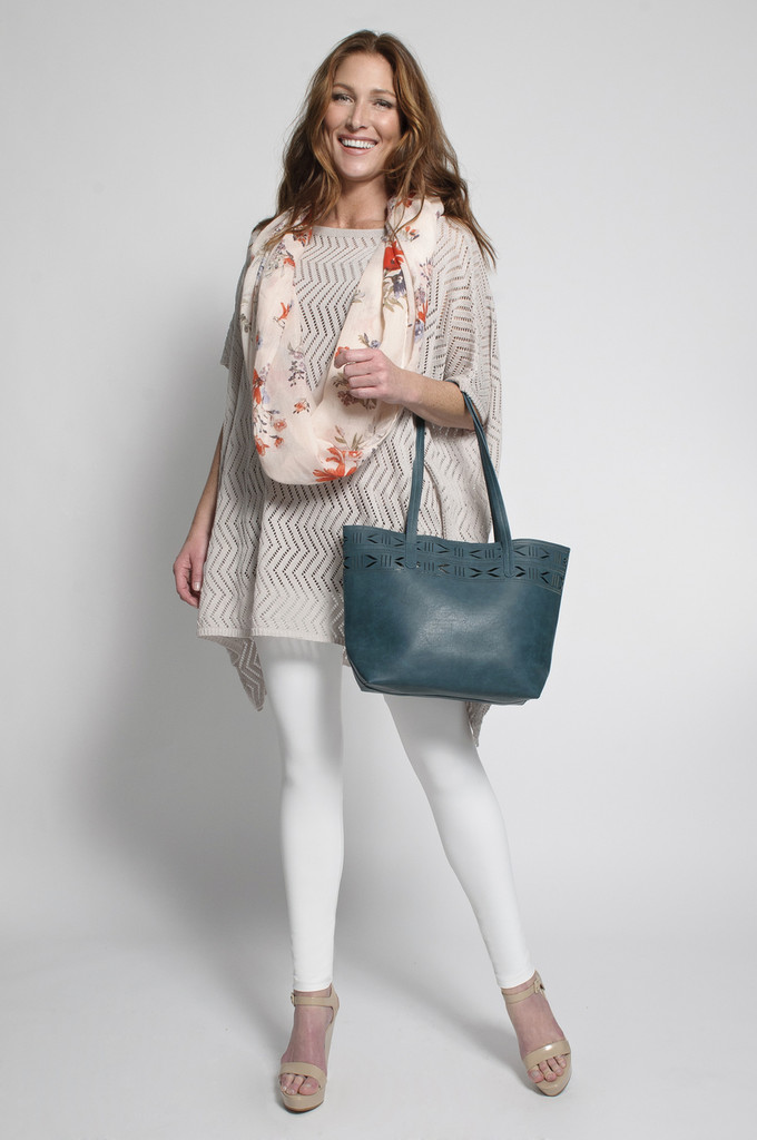 White Leggings (shown with Poncho in Tan)