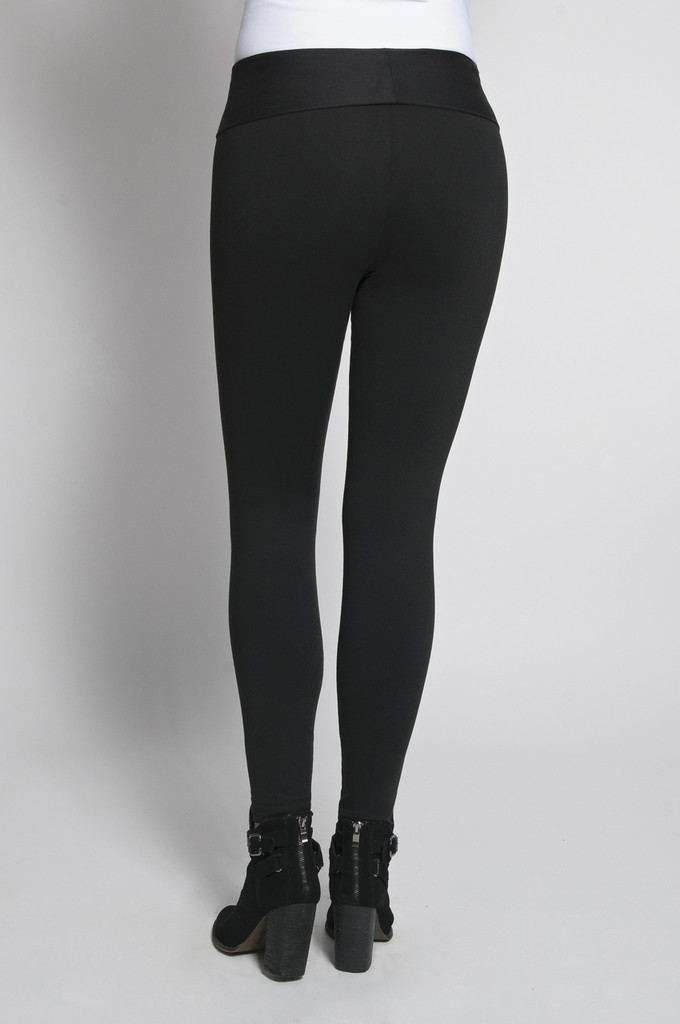 Leggings Rear View: Black