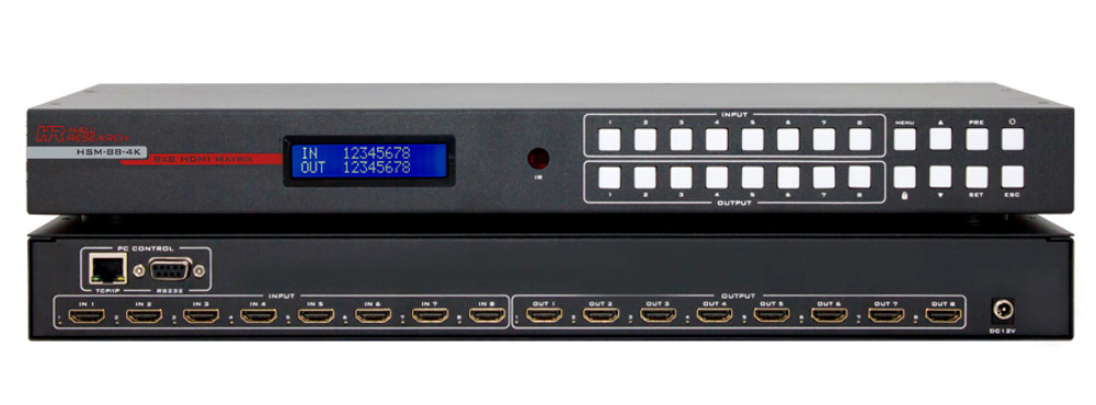 Hall Research 4K 8X8 HDMI Matrix Switch (HSM-88-4K)