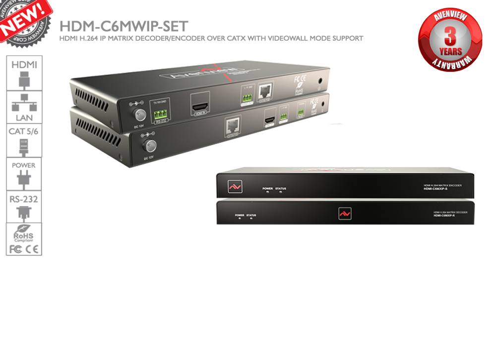 Avenview M-Series - HDMI over IP (C5-RS232-SET)