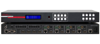 Hall Research 4K 4X4 HDMI Matrix Switch