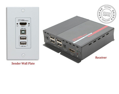 Hall Research HDMI and USB Extension on CAT6 with Audio