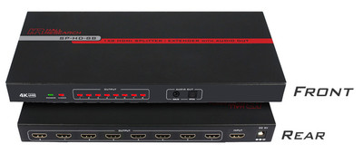 Hall Research SP-HD-8B 8-Channel HDMI Splitter (SP-HD-8B)