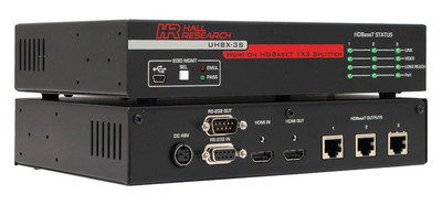 Hall Research HDMI on HDBaseT™ 1x3 Splitter (UHBX-3S)