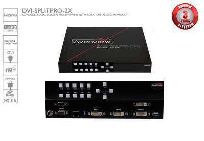 Avenview DVI Dual Screen Multiviewer W Rotation/Chromakey ( DVI-SPLITPRO-2X)