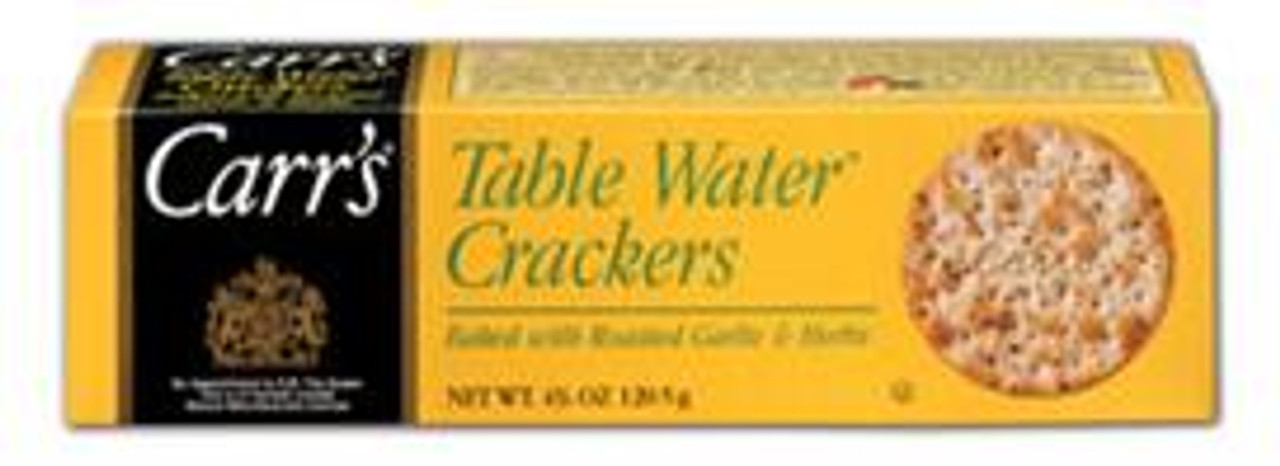 Table Water Crackers- Baked with Roasted Garlic & Herbs