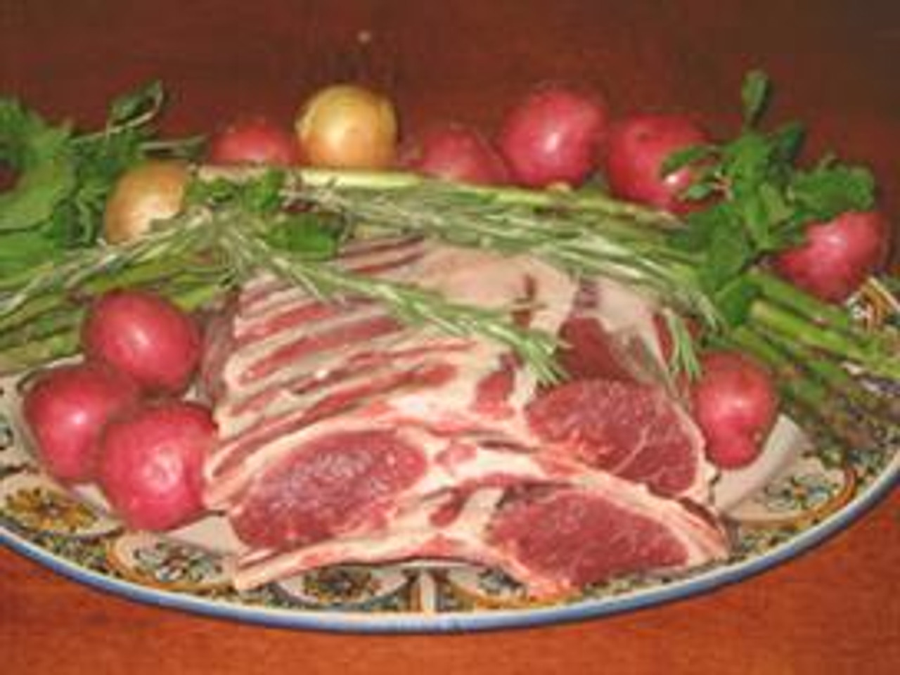 Genuine American Grain Fed Frenched Rack of Lamb