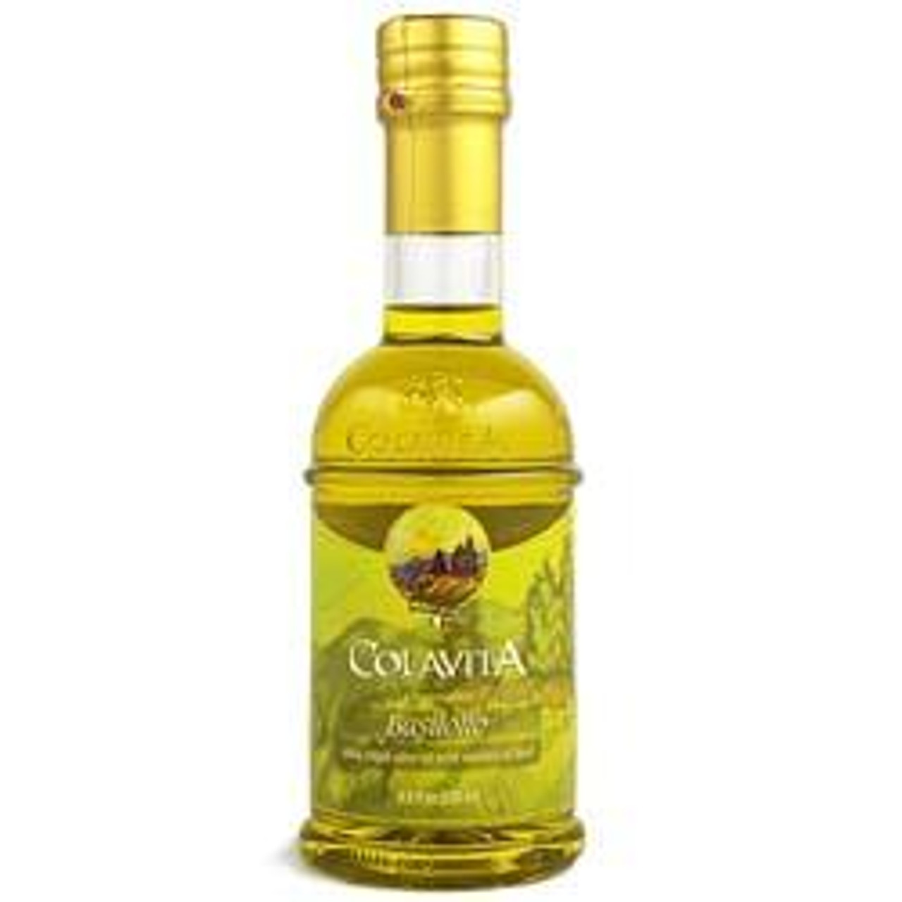 Colavita Extra Virgin Olive Oil infused with basil essence
