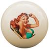 Custom Pool Cue Ball - Pinup Girl