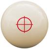 Custom Pool Cue Ball - Crosshairs