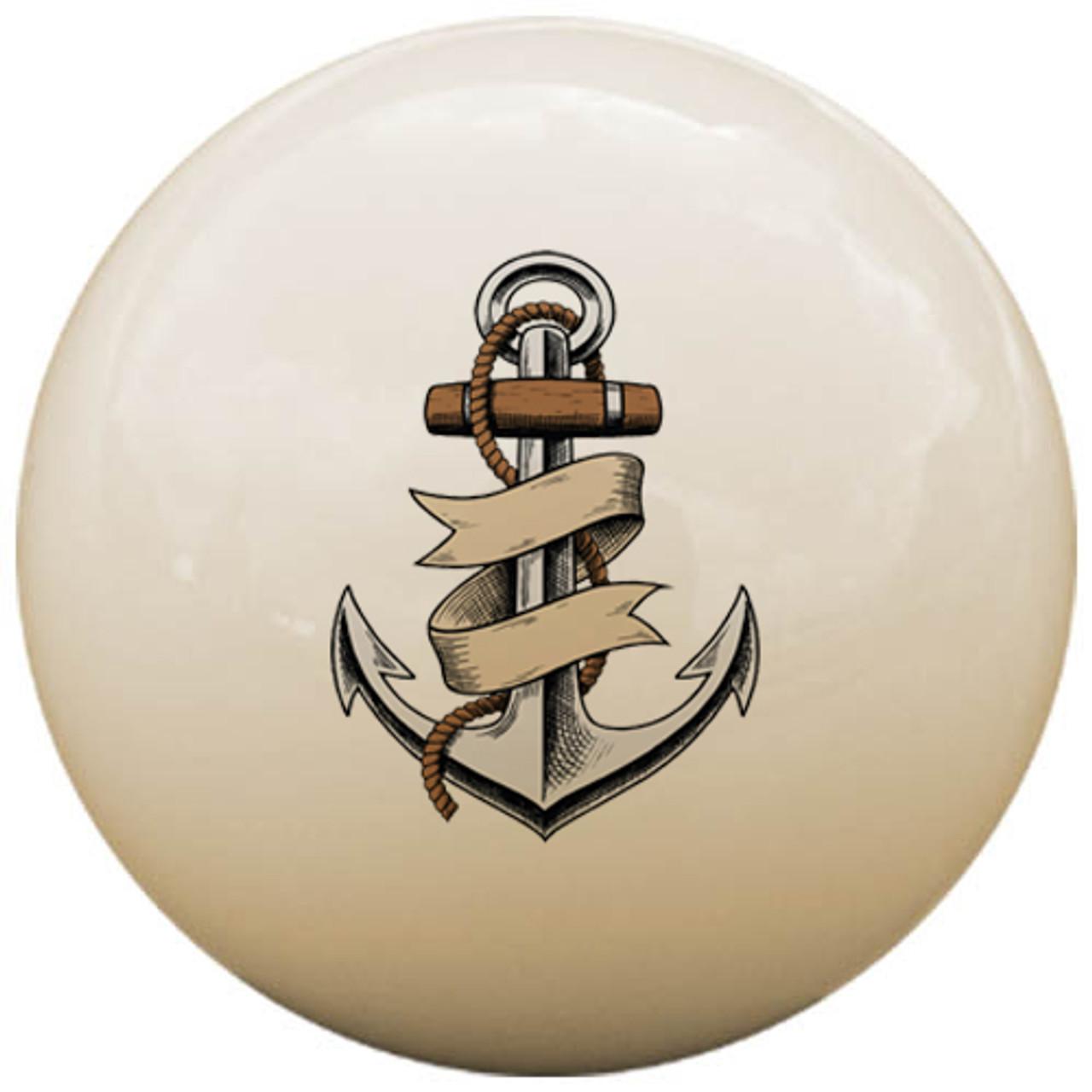 Custom Pool Cue Ball - Anchor