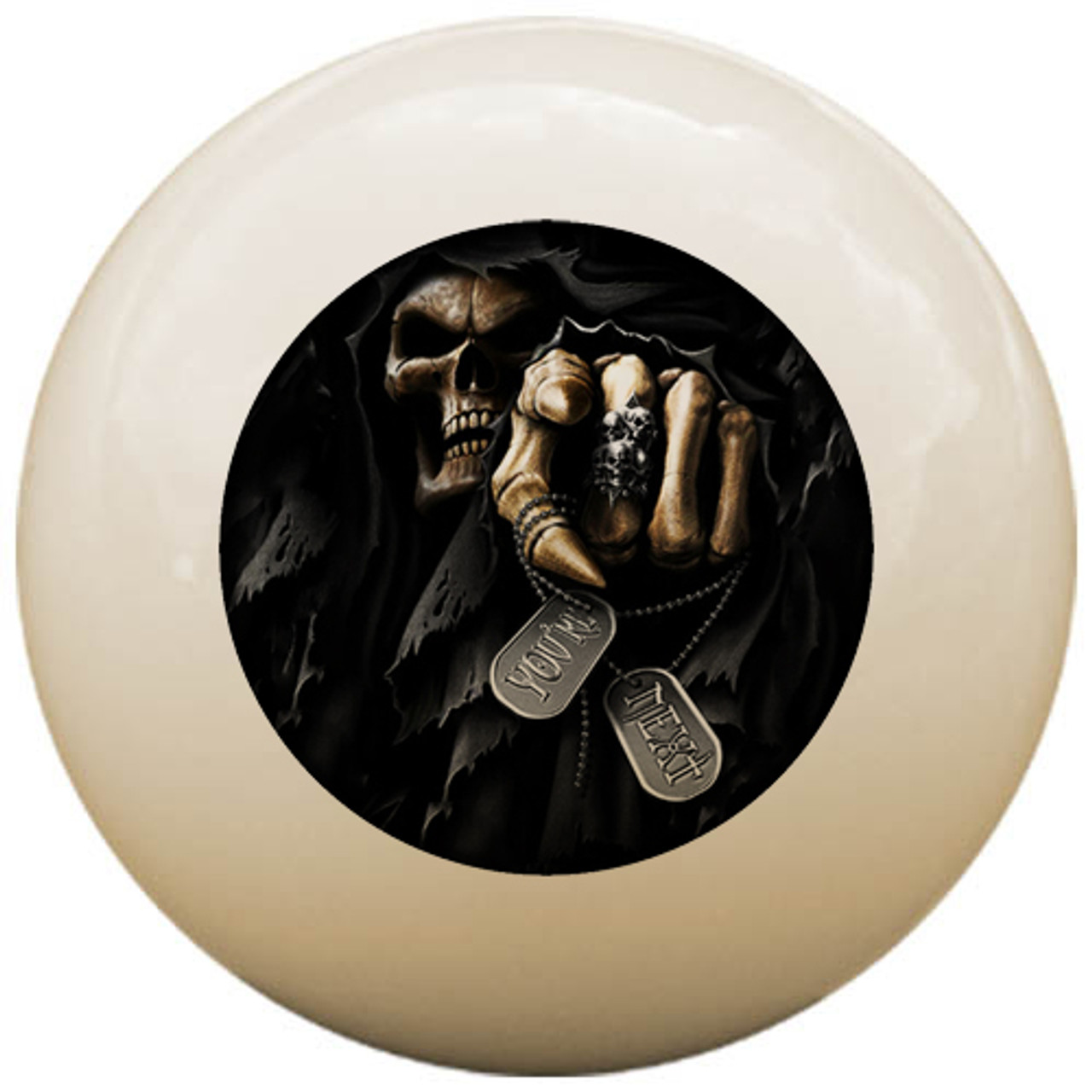 Custom Pool Cue Ball - Skull