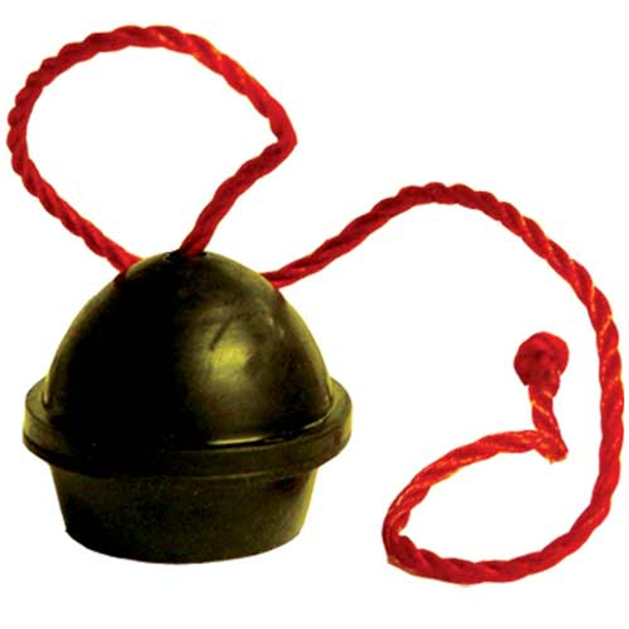 Black Rubber Chalk Holder on a String