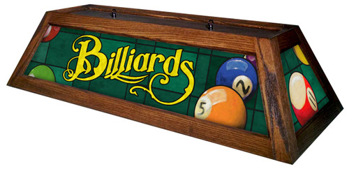Billiards Green Table Light Brown Frame