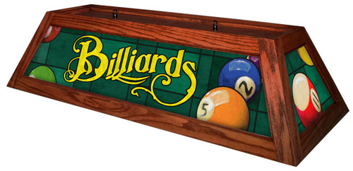 Billiards Green Table Light Brick Frame
