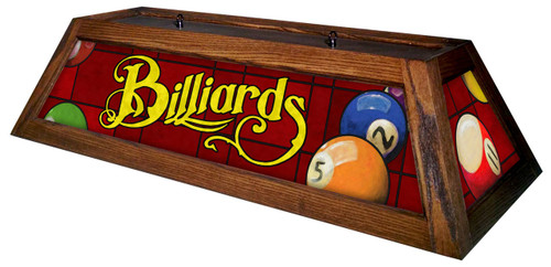 Billiards Red Table Light Brown Frame