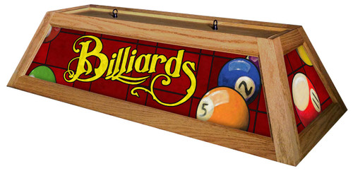 Billiards Red Table Light Oak Frame