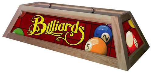 Billiards Red Table Light Unstained Frame