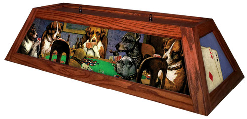 Poker Dogs Table Light Brick Frame