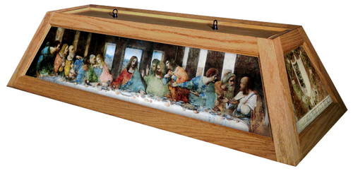 Last Supper Table Light Oak Frame
